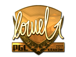 Sticker | loWel (Gold) | Krakow 2017
