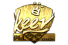 Sticker | keev (Gold) | Krakow 2017