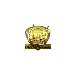 Sticker | kNgV- (Gold) | Krakow 2017