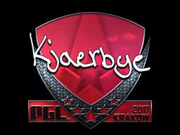 Sticker   Kjaerbye (Foil)   Krakow 2017