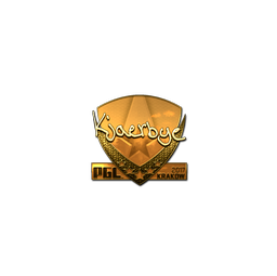 Sticker   Kjaerbye (Gold)   Krakow 2017