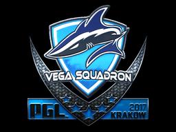 Наклейка | Vega Squadron (металлическая) | Krakow 2017