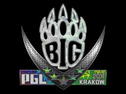 Наклейка | BIG (Holo) | Krakow 2017