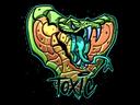 Sticker   Toxic (Foil)