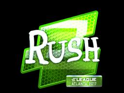 Sticker | RUSH (Foil) | Atlanta 2017