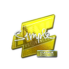 Sticker | s1mple (Foil) | Atlanta 2017