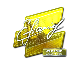 Sticker | flamie (Foil) | Atlanta 2017