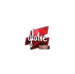 Sticker | gla1ve (Foil) | Atlanta 2017