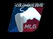 Sticker MLG (Foil) | MLG Columbus 2016