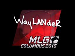 Наклейка | wayLander (металлическая) | MLG Columbus 2016