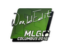 Skin Sticker | WorldEdit | MLG Columbus 2016