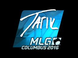 Наклейка | tarik (металлическая) | MLG Columbus 2016