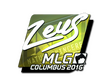 Sticker Zeus (Foil) | MLG Columbus 2016