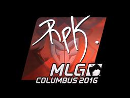 Наклейка | RpK (металлическая) | MLG Columbus 2016