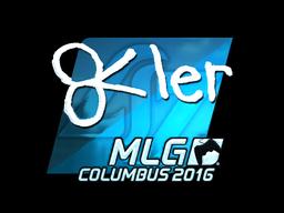 Наклейка | reltuC (металлическая) | MLG Columbus 2016