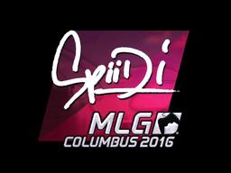 Наклейка | Spiidi (металлическая) | MLG Columbus 2016