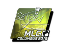 Sticker | seized (Foil) | MLG Columbus 2016
