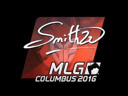 Наклейка | SmithZz (металлическая) | MLG Columbus 2016
