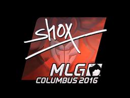 Наклейка | shox (металлическая) | MLG Columbus 2016