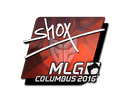 Sticker | shox (Foil) | MLG Columbus 2016
