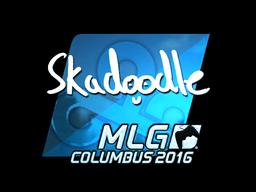 Наклейка | Skadoodle (металлическая) | MLG Columbus 2016