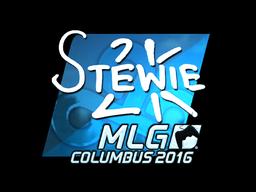 Наклейка | Stewie2K (металлическая) | MLG Columbus 2016