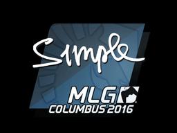 Sticker   s1mple   MLG Columbus 2016