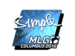 Sticker s1mple (Foil) | MLG Columbus 2016