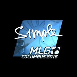 s1mple (Foil) | MLG Columbus 2016