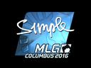 Sticker   s1mple (Foil)   MLG Columbus 2016