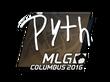 Sticker pyth   MLG Columbus 2016