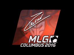 Наклейка | Ex6TenZ (металлическая) | MLG Columbus 2016