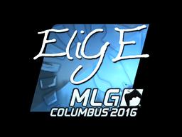 Наклейка | EliGE (металлическая) | MLG Columbus 2016