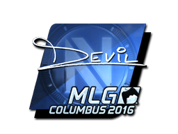 Sticker | DEVIL (Foil) | MLG Columbus 2016