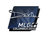 Skin Sticker | DEVIL | MLG Columbus 2016