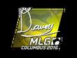 Sticker DAVEY (Foil) | MLG Columbus 2016