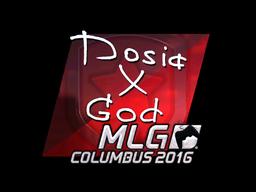 Наклейка | Dosia (металлическая) | MLG Columbus 2016