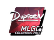 Sticker dupreeh (Foil) | MLG Columbus 2016
