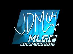 Наклейка | jdm64 (металлическая) | MLG Columbus 2016