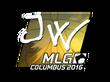 Sticker JW (Foil)   MLG Columbus 2016