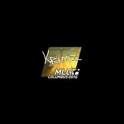 Sticker   KRIMZ (Foil)   MLG Columbus 2016