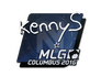 Skin Sticker | kennyS | MLG Columbus 2016