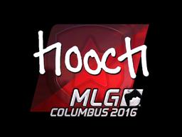 Наклейка | hooch (металлическая) | MLG Columbus 2016