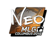 Sticker NEO (Foil) | MLG Columbus 2016
