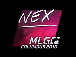Наклейка | nex (металлическая) | MLG Columbus 2016