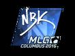 Sticker NBK- (Foil)   MLG Columbus 2016