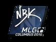 Sticker NBK- | MLG Columbus 2016