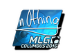 Sticker n0thing (Foil) | MLG Columbus 2016