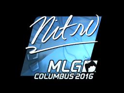 Наклейка | nitr0 (металлическая) | MLG Columbus 2016