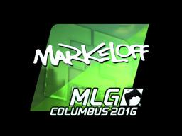 Наклейка | markeloff (металлическая) | MLG Columbus 2016